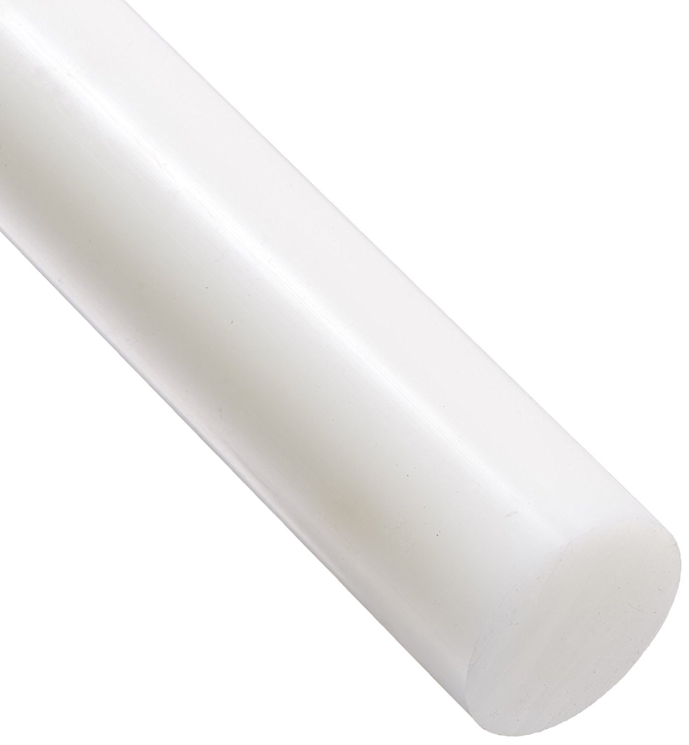 HDPE High Density Polyethylene Round Rod, Translucent White 50mm Diameter x 300mm Long Grade A PE 500 J&A Racing