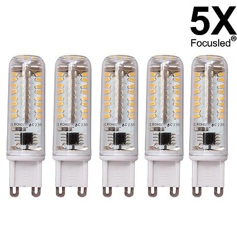 5 x G9 SMD 3014 se puede regular 4,5 W foco de luz LED