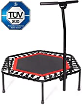 SportPlus Fitness Trampoline with Bar / OR Replacement Bungees – Indoor Rebounder Trampoline for Adults – Ideal for Cardio Workout