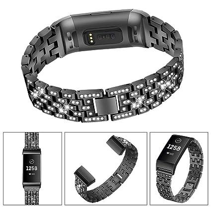 Amazon com: Exteren Compatible for Fitbit Charge 3 Bands,Women