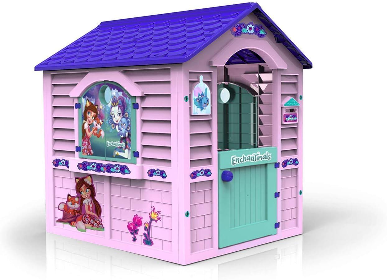 Chicos Casita Infantil de Exterior Enchantimals, Color Rosa con tejado Morado (La Fábrica de Juguetes 89518)