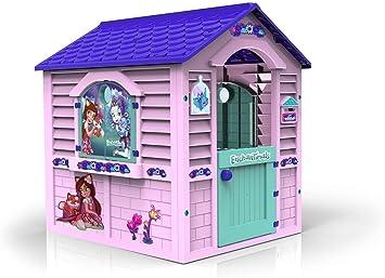Chicos Casita Infantil de Exterior Enchantimals, Color Rosa con tejado Morado (La Fábrica de Juguetes 89518): Amazon.es: Juguetes y juegos