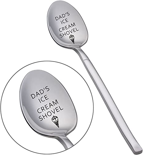custom stamped spoon ice cream spoon Dad/'s ice cream shovel fathers day spoon gift for dad