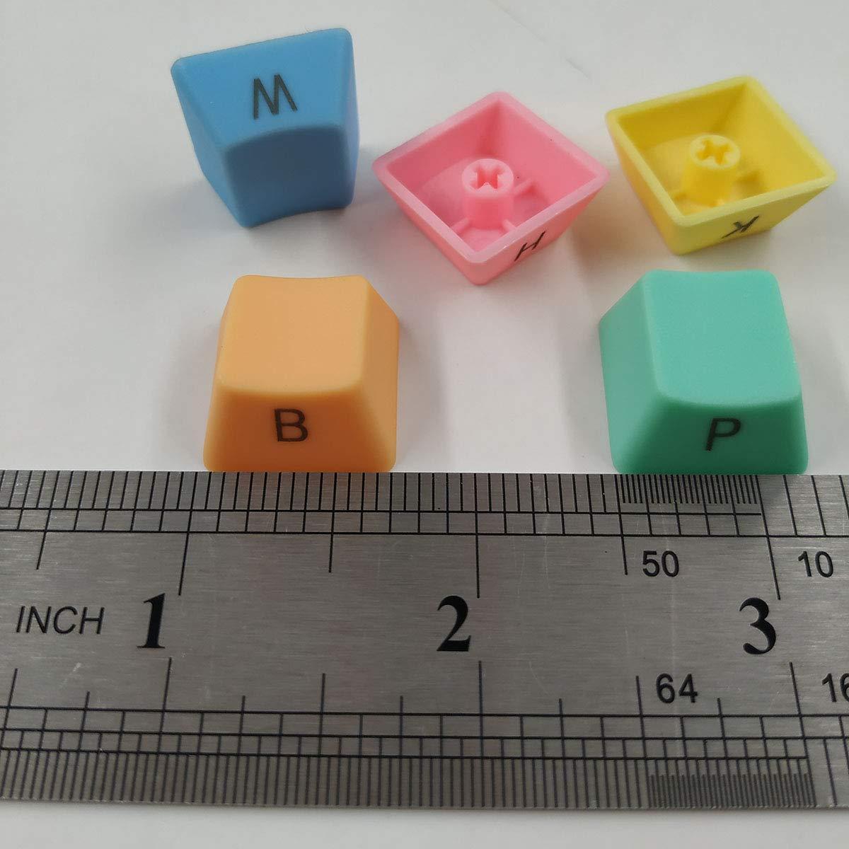 BestwayTech 37key PBT Keycaps Double Shot Injection Backlight Keycaps per Tastiera con Interruttore Meccanico Key Puller Rainbow Gradient Color
