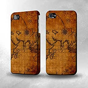Apple iPhone 4 / 4S Case - The Best 3D Full Wrap iPhone Case - Old Map