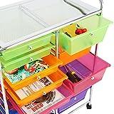 Finnhomy 15-Drawer Rolling Cart,Storage Rolling