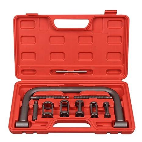 CCLIFE compresores de muelles de válvula con maleta, color rojo, 11 piezas