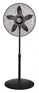 """AIR King 18"""" Yes Oscillating Black Fan, 53-3/4"""" Height,120 Voltage"""
