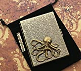 Steampunk Cigarette Case Nautical Octopus Metal Wallet Antiqued Brass
