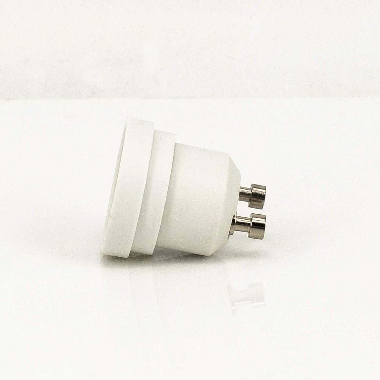 ZDCDJ 8pcs GU10 adapter GU10 auf E27 Lampensockel Adapter Konverter,GU10 auf E27 Lampensockeladapter f/ür Gl/ühlampen,LED,Halogen Energiespar Lampen