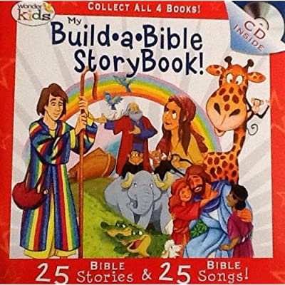 My Build A Bible Storybook! Disc 3- 25 Bible Stories, 25 Bible Songs on Included Music CD - By Wonder Kids: Toys & Games