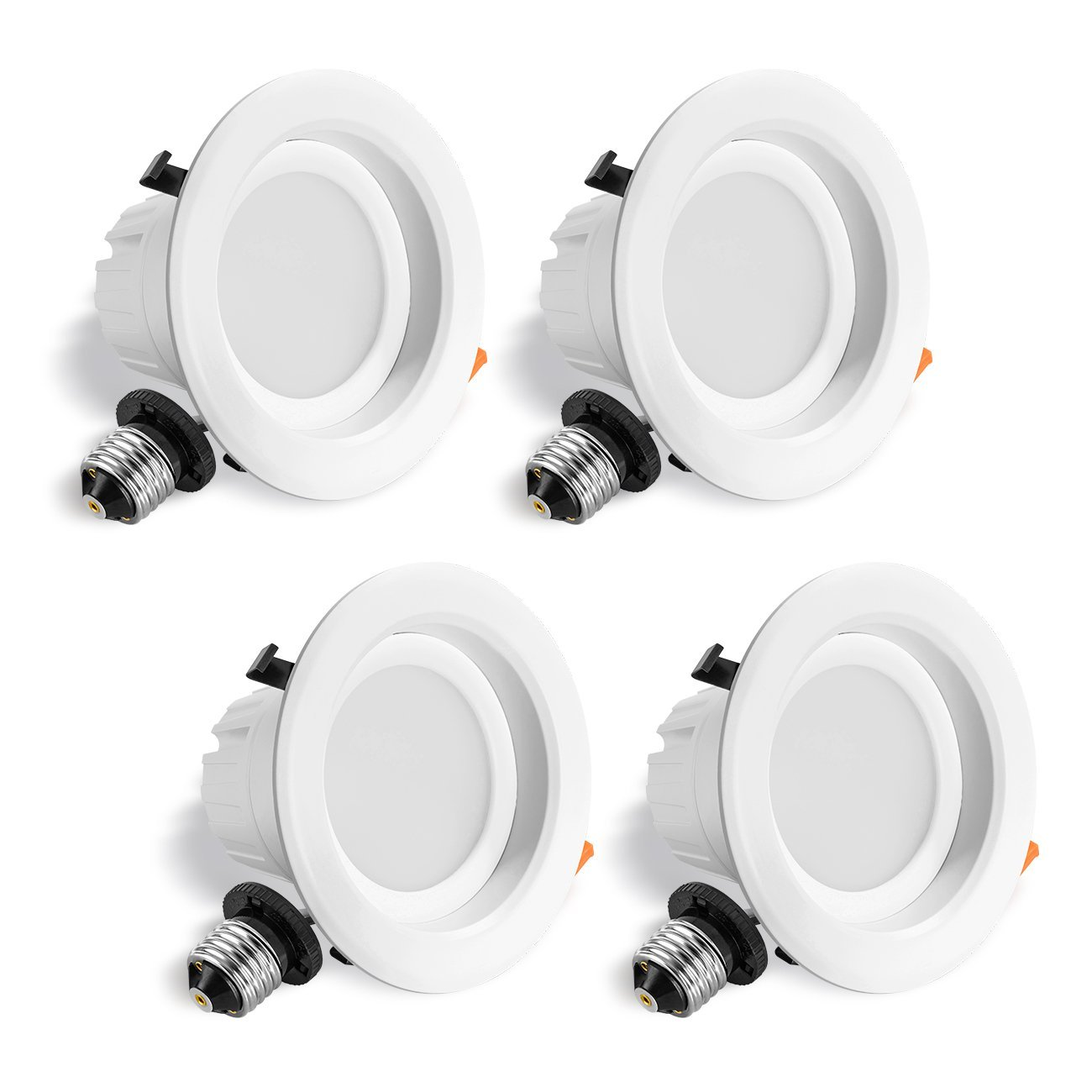 LVWIT LED 4'' Retrofit Dimmable Downlight 5000K Daylight 750 Lumens, Equivalent 65W, 5 Year Warranty(4 Pack) by LVWIT (Image #1)