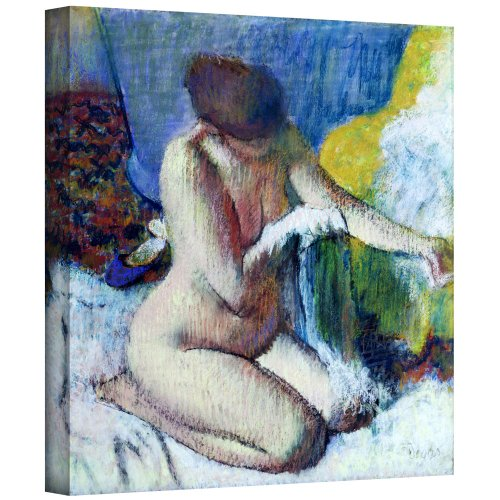 Degas Bath After The Edgar (ArtWall 'After The Bath' Gallery-Wrapped Canvas Artwork by Edgar Degas, 24 by 24-Inch)