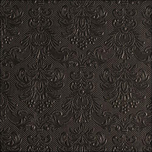 Papier Servietten Lunch//Party//Fest Ca 33x33cm Elegance Black Gepr/ägt//Embossed Hochzeit Taufe Ideal Als Geschenk Und Tisch Deko