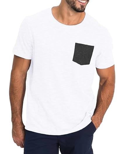 MODCHOK Homme T Shirt à Manches Courtes Tee