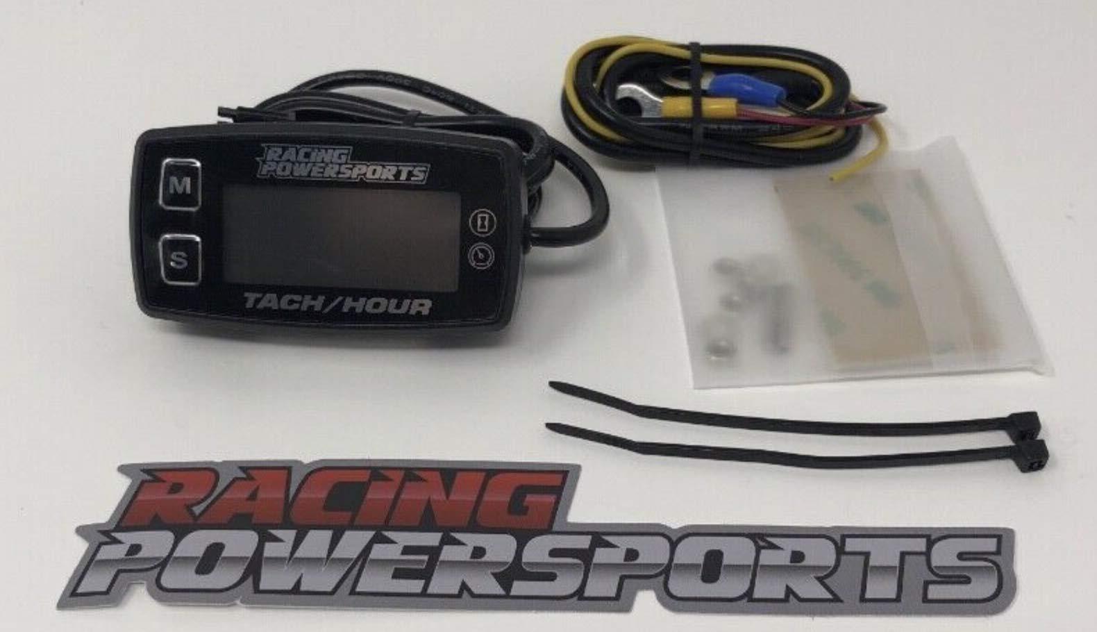 RacingPowerSports LED 12V Backlit Tach Tachometer Hour Meter ATV Boat Bike UTV by RacingPowerSports