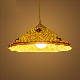 SADASD - Lámpara colgante de techo antigua, de bambú ...