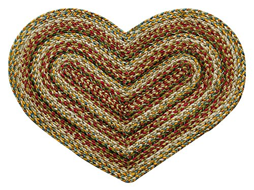 (CWI Gifts Plantation Braided Heart Rug, 20 x 30)