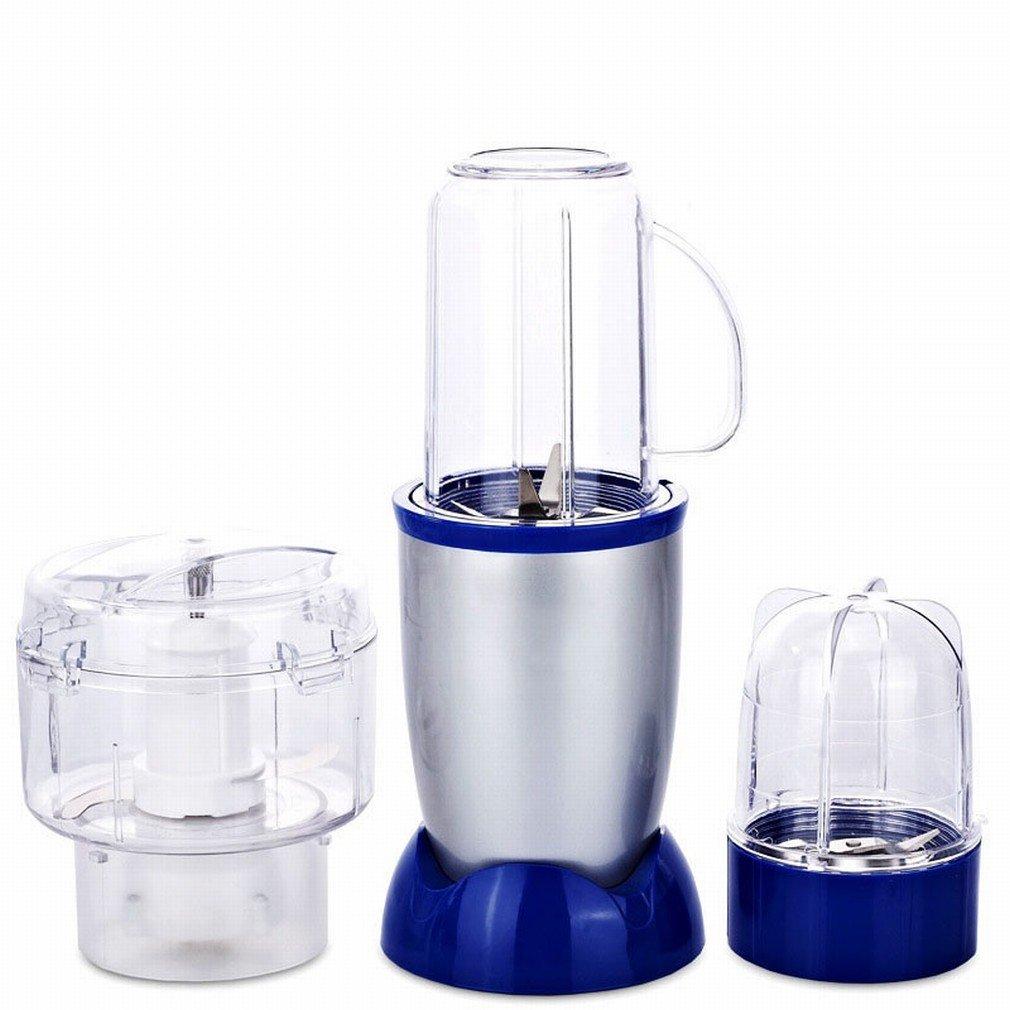 HE Máquina de Procesamiento Multifuncional Soplador de Leche de Soja Máquina de Cocinar Eléctrica Doméstica Mezclador de Carne, Azul: Amazon.es