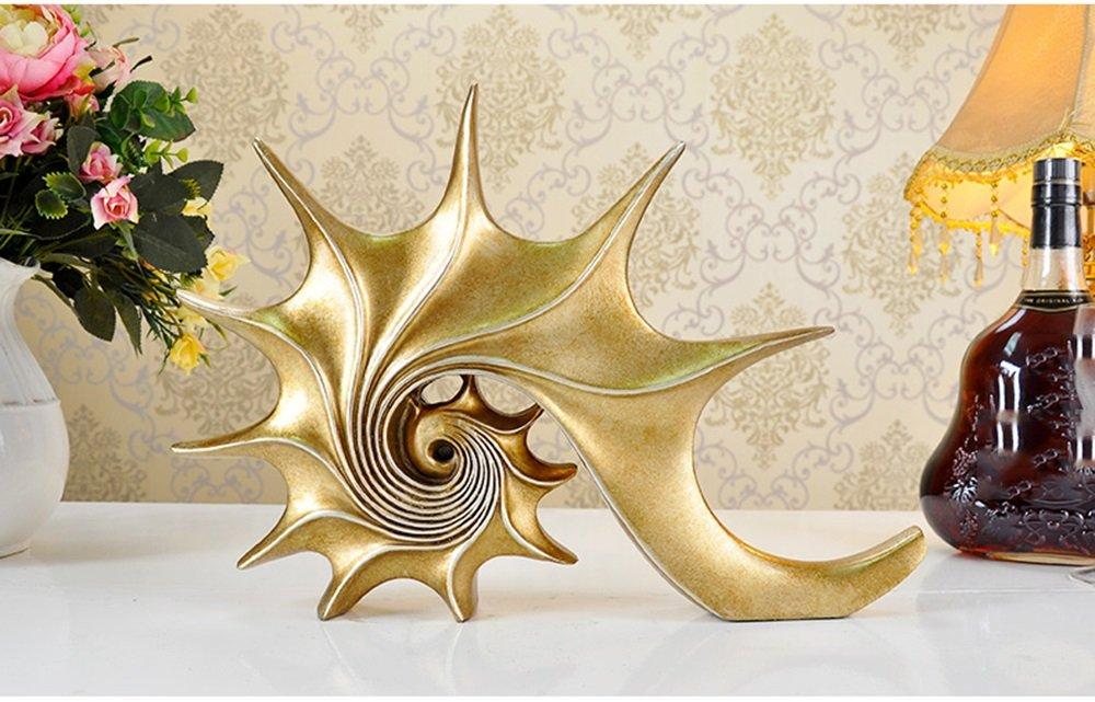 Conch Soggiorno Decorazione Decorazione Governo TV Artigianato Creativo Europeo (colore   Champagne)