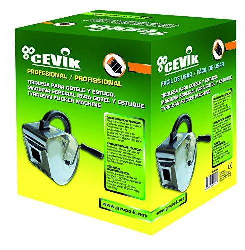 Cevik CA-TIROLESA - Herramienta Manual Maquina manual para impermeabilización, gotelé y estuco: Amazon.es: Bricolaje y herramientas