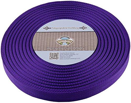 Country Brook 1-Inch Polypropylene Webbing, 100-Yard, Purple