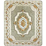 European Style Rugs Rose Fashionable Living Room Bedroom Carpet Sofa Table Bedside Area Rugs (4'x5'10, Beige)