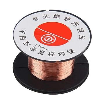 leoboone 1pcs Nueva 0.1MM de cobre Soldadura Soldadura PPA esmaltado reparación del carrete de alambre