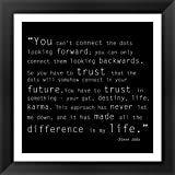 Trust Quote by Veruca Salt Framed Art Print Wall Picture, Black Frame with Hanging Cleat, 16 x 16 inches