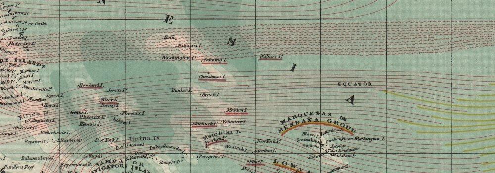 Océano Pacífico corrientes Británico Francés Alemán US Español Colonias. Letts Old Map - diseño envejecido Vintage Mapas de Pacific - 1889: Amazon.es: Hogar