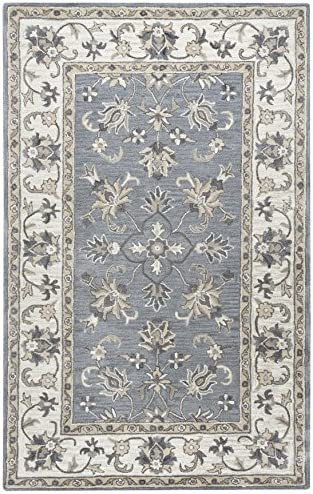 Rizzy Home Valintino Collection Wool Area Rug, 2 6 x 8 , Gray Tan Ivory Border