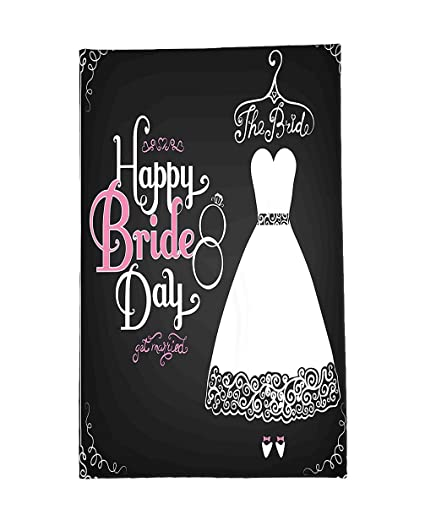interestlee fleece throw blanket bridal shower decorations happy bride day quote wedding dress swirls art print