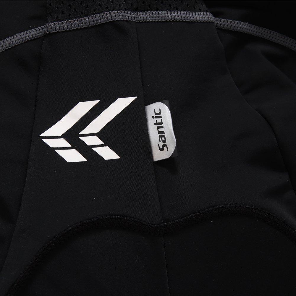 Santic Mens Cycling Bib Short 4D Padded Black