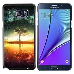 Resumen Galaxy Lago- Metal de aluminio y de plástico duro Caja del teléfono - Negro - Samsung Galaxy Note5 / N920