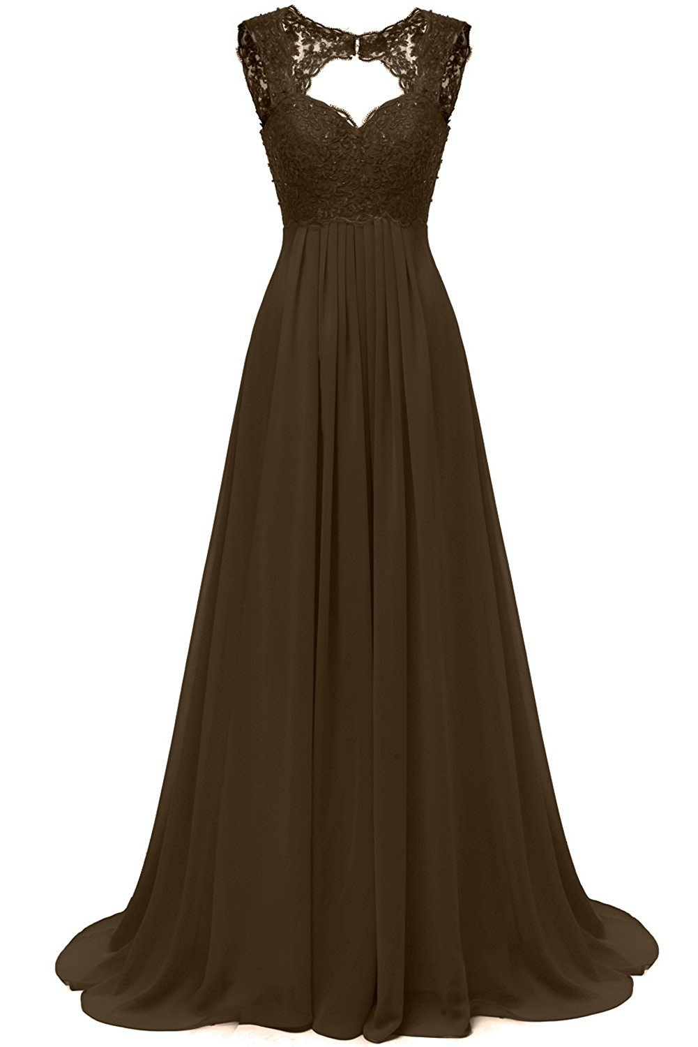 DINGZAN Beach Wedding Dresses Chiffon and Lace Bridesmaid Reception Gowns Long