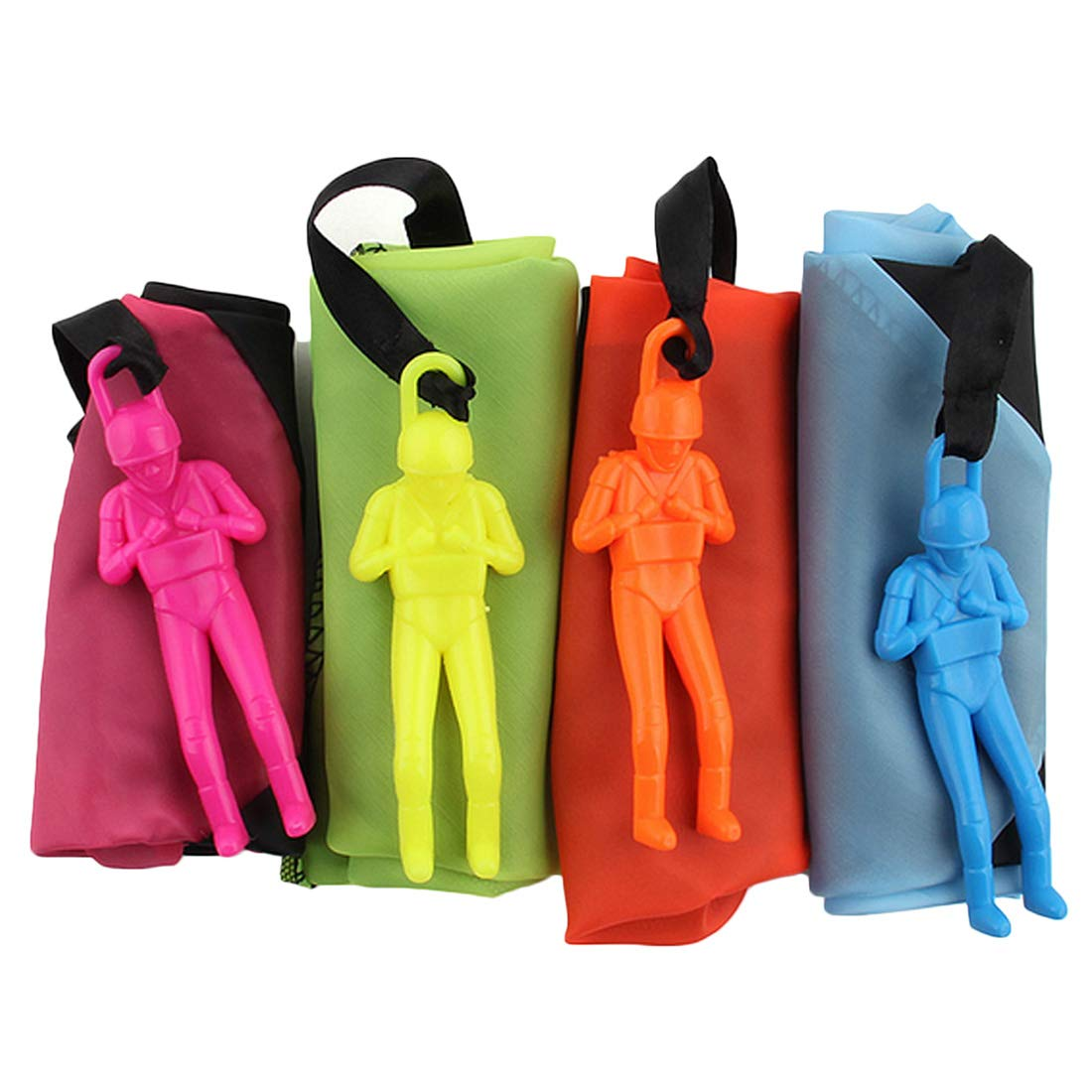 Huihui Decoration 7 Pieces Parachute Toys,Tangle Free Parachute Men Throwing Hand Throw Soldiers Toss It Up and Watching Landing Outdoor Parachute for Kids by Huihui Decoration (Image #4)