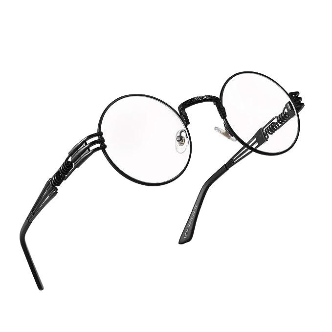 Amazon.com: Gafas redondas para hombre y mujer, de la marca ...