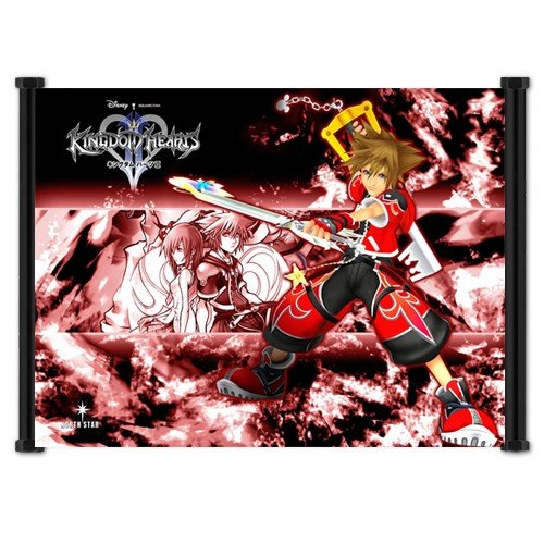 (Kingdom Hearts 2 Game Fabric Wall Scroll Poster 21