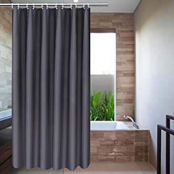 Solid Gray Grey Shower Curtain Stall Size 36 X 72 By Ufriday Plain Fabric