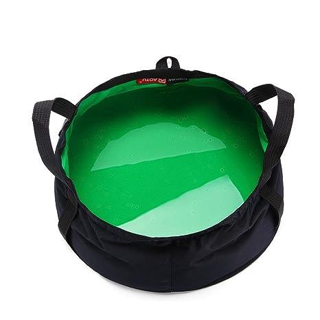 Folding Nylon Collapsible Bucket Camping Caravan Hiking Fishing Wash Up Bowl UK