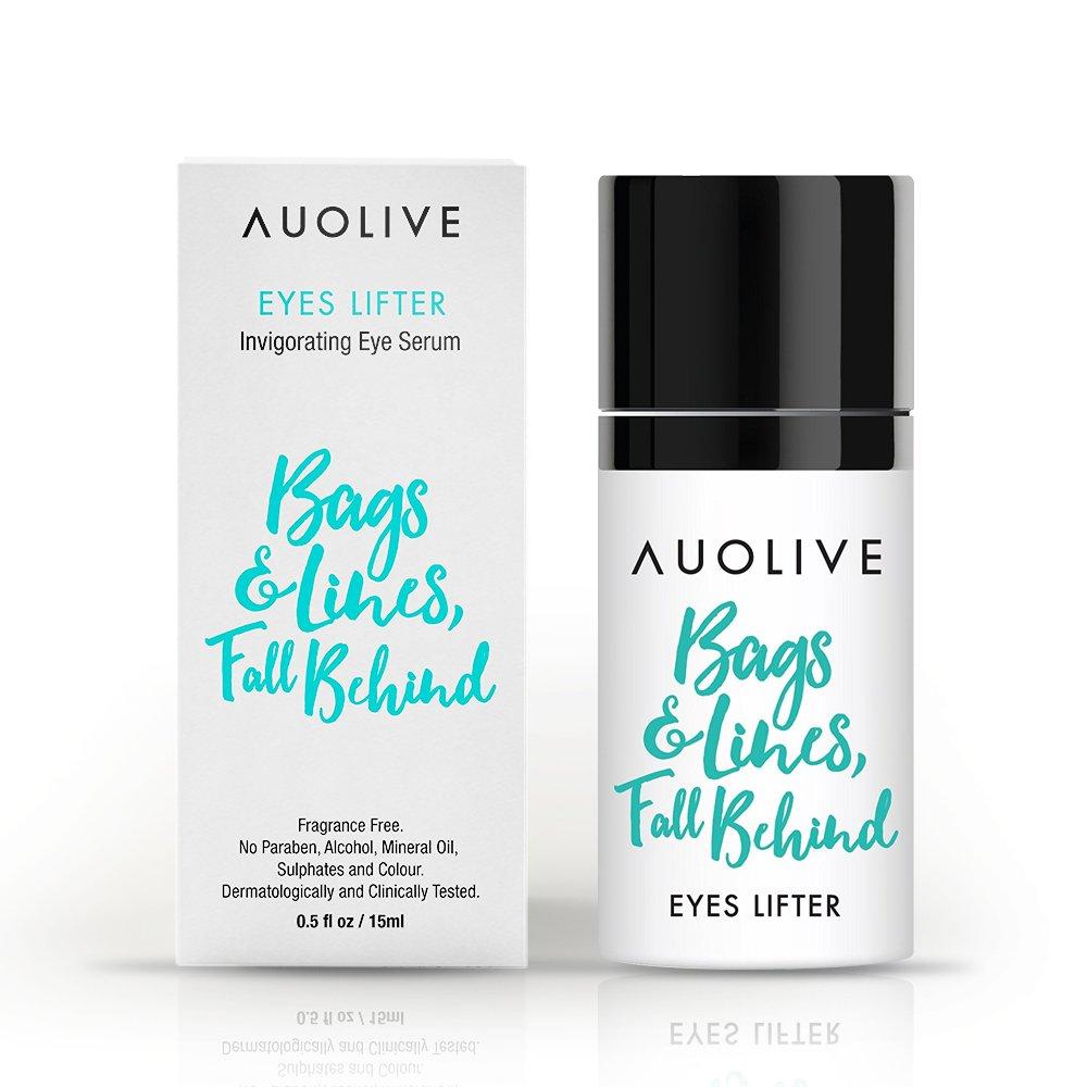 Auolive Premium Anti Aging Eye Cream For Dark Circles & Puffiness - Award Winning Under Eye Serum For Wrinkles & Eye Bags