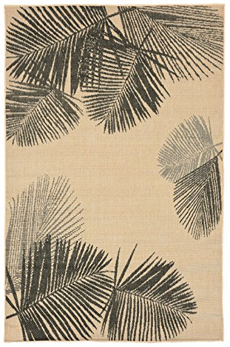 Liora Manne TERR8179267 Terrace Casual Botanical Tropical Palm Leaves Indoor/Outdoor Runner Rug, 23