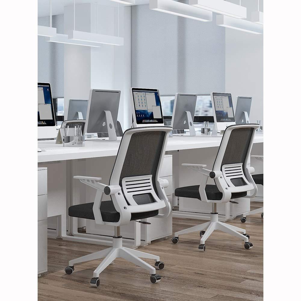 Comif- Ergonomisk kontorsstol, nät hem datorstol, höjd justerbar/360° rotation, BIFMA/SGS-certifiering (flerfärgat tillval) Svart