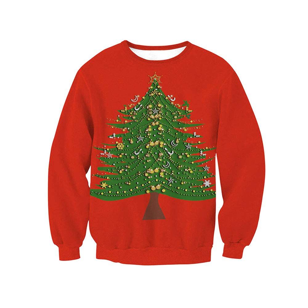 Womens Snowman Reindeer Christmas Sweatshirts Ugly Funny Santa Pullovers