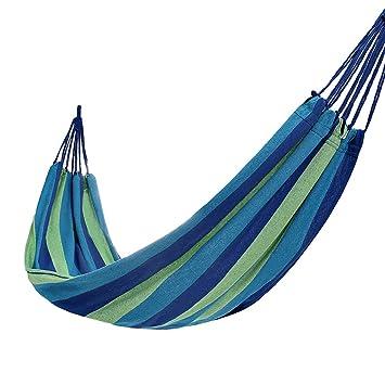 Amazon.com: Zheng Hui Home Hamacas azules de poliéster ...