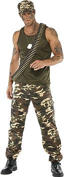 Esercito Combat Cachi Tuta Da Uomo Costume Militare Soldato Adulto Costume Outfit