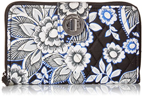 RFID Turnlock Wallet Wallet, Snow Lotus, One