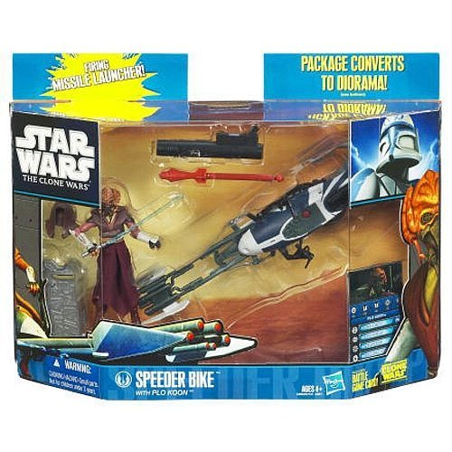 Star Wars The Clone Wars Speeder Bike with Plo Koon -