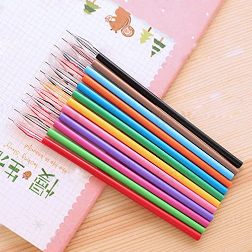 Useful 12pcs/lot Colorful Diamond Gel Pen Cute Pens Student Office Accessorie