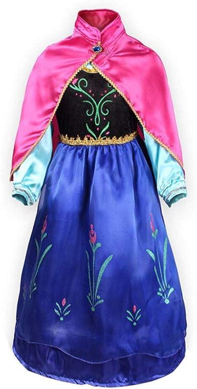 FONLAM Disfraz de Princesa Vestido de Fiesta Niña Traje de ...
